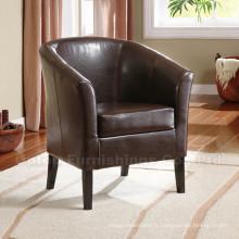 Chaises confortables en cuir en tisonnier pour hôtels en cuir (SP-HC110)