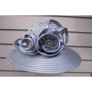 Chapéus extravagantes cobertos tela das mulheres