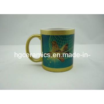 11oz Gold Sublimation Mug, 11oz Gold/Silver Sublimation Mugs