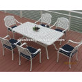 nice design cast metal dining chair outdoor furniture chair garden arm chairs