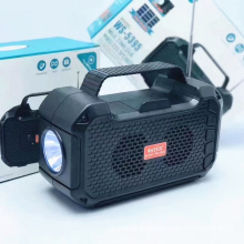 WSTER Wireless Speaker Support USB TF CARD FM RADIO With Light  With Solar  WS5395 Blue Tooth Speaker