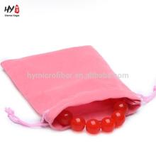 Promotion soft custom velvet jewelry bag