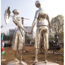 2016 Nouvelle sculpture en acier inoxydable de haute qualité sur la statue d'amour
