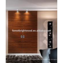 Rosewood luxo deslizante tipo italiano porta Design