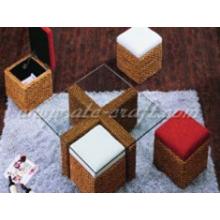 Platzsparendes Design Wasser Hyazinthen Kaffeetasse Set Holzrahmen für den Innenbereich