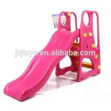 Direto da fábrica JQ3017 crianças plástico Outdoor Play Pink Slide