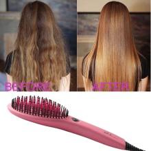 Ceramic Electric Hair Straightener Comb Brush