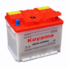 56030 (12V60AH) DIN Standard Dry Charge Car Battery