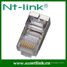 gold plating shield rj45 modular plug