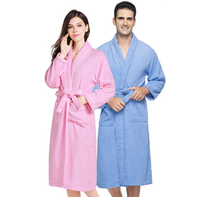 hotel cotton bathrobe