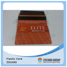 Plastic Magnetic Stripe Cards/Lo-Co Magnetic Stripe Cards with Glittering