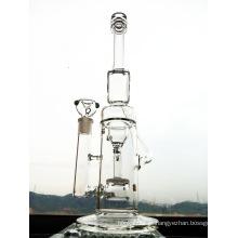 Mais novo design 16 polegadas de altura funil reciclar vidro cachimbo de água de fumar