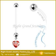 Cuello vientre embarazado CZ gemas corazón cómodo CZ gemas