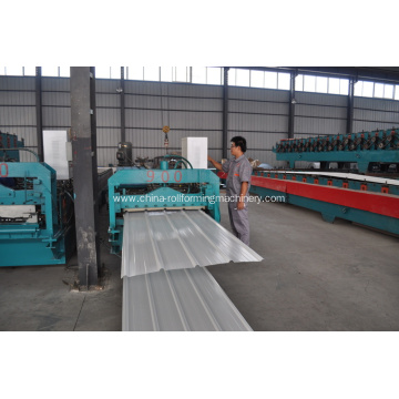 Colored steel tile roll forming machine