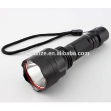 Cinco velocidades de la policía zoom potente recargable LED táctico linterna LED