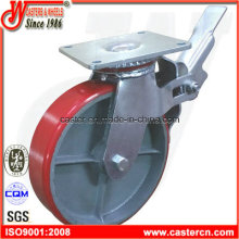 8 Inch PU Scaffold Caster with Top Plate
