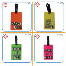 Custom Printing Logo Text Funny Luggage Tag for Trip
