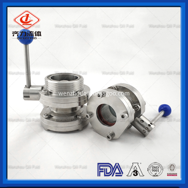 Sanitary Stainless Steel Butterfly Valve 165