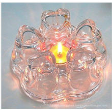 New Design Heart Shape Glass Teapot Warmer for Wholesaler