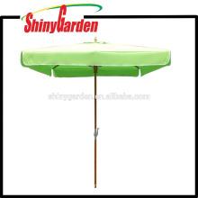 Paraguas cuadrados de 2 ha. 2M Patio con corredor de plástico, cubo y tela final acrílica superior 250G