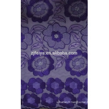 Tissu africain de dentelle de Voile suisse