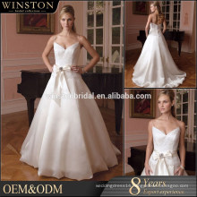 Wholesale new designs offer shoulder sweetheart double layer latest wedding gown designs