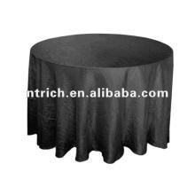 Crinkle/crushed taffeta wedding round table cloth