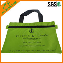 Zipper Non Woven Document Bag With Logo