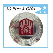Moneda Challenge 999 de plata esterlina con esmalte suave