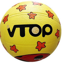 Star Style High Quality Rubber Basketball Toys