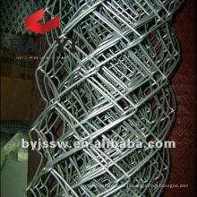 Clôture galvanisée à mailles losangées