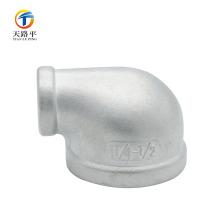 Encaixe de tubulação de aço inoxidável que reduz o cotovelo de 90 graus para a fonte de água