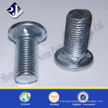 Grade 4.8 Blue White Zinc Carriage Bolt