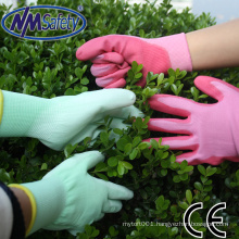 NMSAFETY bright color garden pu coated gloves