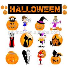Kundenspezifischer Schädelkürbis-Geistentwurf nicht-taxic Aufklebertätowierung Halloween-Aufklebertätowierung