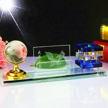 Support en cristal moderne simple de stylo créatif pour la décoration de bureau