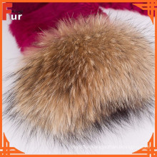 For Women Coat Raccoon Fur Cuff