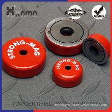 Round Base Ferrite Pot Hook Magnet