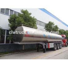 3 axle 46 cbm fresh milk tank semi trailer
