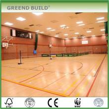 Revestimento de madeira do bordo em grande escala interno antiderrapante do campo de esporte do Badminton do deslizamento