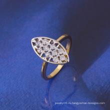 Xuping моды оптом многоцветный CZ каменные медные кольца