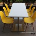 KKR table basse blanche haute brillance en forme ronde