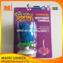 Happy Birthday Lotus Flower Music Fireworks Birthday Candle