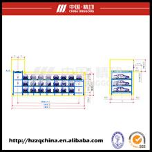 Garaje estéreo automático comercial ideal, estacionamiento cíclico del estacionamiento de la Multi-Deck