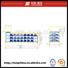 Ideal Commercial Automatic Stereo Garage, Multi-Deck Cyclic Car Parking