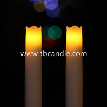 Real wax LED taper candle