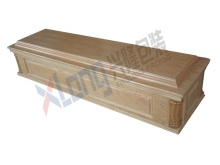 Velveteen Interior Oak Veneer Assembled Ready Paper Coffin