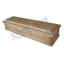 Velveteen Interior Oak Veneer Assembled Ready Paper Coffin