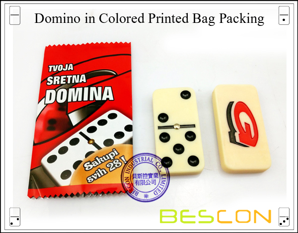 Domino in Colored Printed Bag Packing