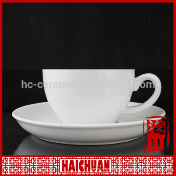 150cc 5oz approx. plain white personalized porcelain coffee and tea cup and saucers sets